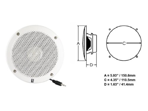 Ma1000rw Vhf Extension Speakers Flush Mount Polyplanar