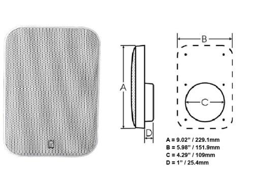 ma905w 5 inch platinum panel speaker white polyplanar rh polyplanar eu Karaoke VocoPro Wiring Diagrams Radio Wiring Diagram